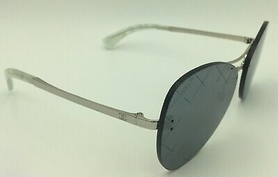 3fad1e4a37 CHANEL 4218 C.124 6G Runway Pilot Sunglasses - Silver w  Grey Mirror  Quilted -  125.00