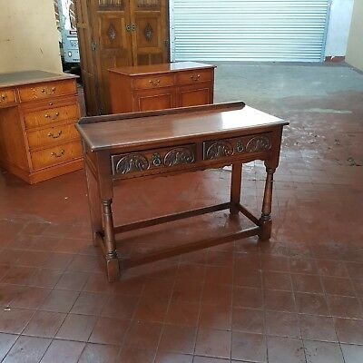 Antique/reproduction Old Charm 2 Drawer Console/hall Table Sideboard/server
