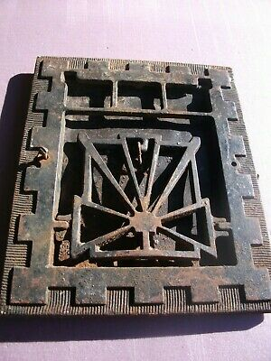 "Heat Air Grate Wall Register 8""x10"" Wall Open VINTAGE- Works! ART DECO Vertical"