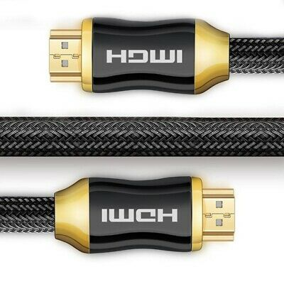 4K HDMI Cable 2.0 High Speed Gold Plated Braided Lead 2160p 3D UHD (1M - 15M)
