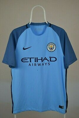 Manchester City 2016/2017 Home Football Shirt Jersey Nike Size M