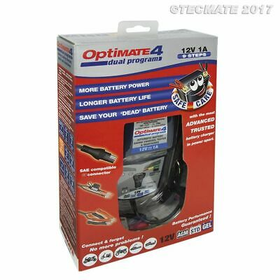 Optimate 4 12V 1A Car Motorcycle Quality Battery Optimiser Charger - 2017 - DP
