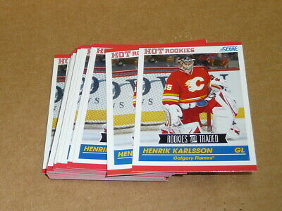 2010/11 Panini Score Rookie Traded HENRIK KARLSSON LOT OF 29 CARDS FLAMES #621