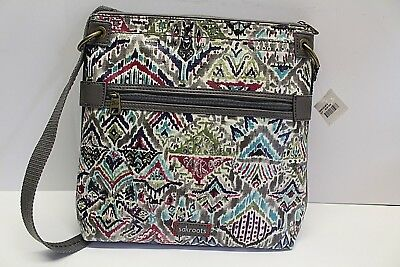 1beae20e9 Sakroots Crossbody Messenger Coated Canvas SLATE BRAVE BEAUTI New with tags