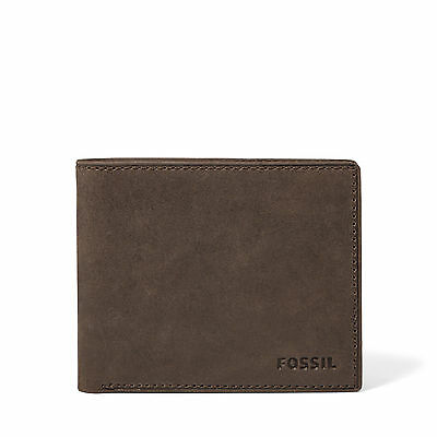 Fossil  Men's NOVA SLIM BIFOLD Leather Brown Wallet ML3427200