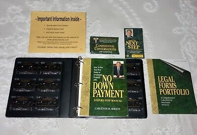 No Down Payment Carleton Sheets COMPLETE COURSE Real Estate VTG Cassette Tapes