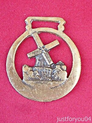 Vintage Solid Horse Brass The Windmill Miniature Pony Size.