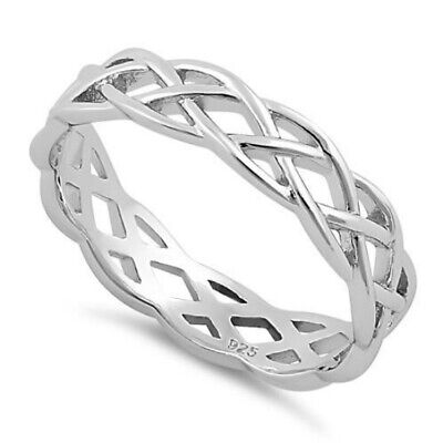 Melchior Jewellery Sterling Silver CELTIC Band Ring Gift Bag
