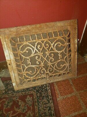 Antique Grate With Louver Larger 13x14 decorative heavy duty