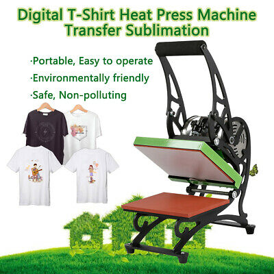Heat Press T-Shirt Digital Transfer Sublimation Machine DIY Printer US Shipping
