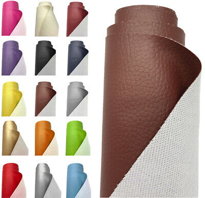 Grain Faux Leather Fabric Vinyl Upholstery Leatherette Heavy Duty Cloth Material