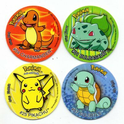 Bulbasaur + Charmander + Squirtle + Pikachu Taso Pokemon (Turkish 1ª Edition)