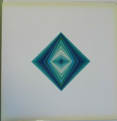 Victor Vasarely RHOMBUS heliogravure on paper 1968  Edition du Griifon