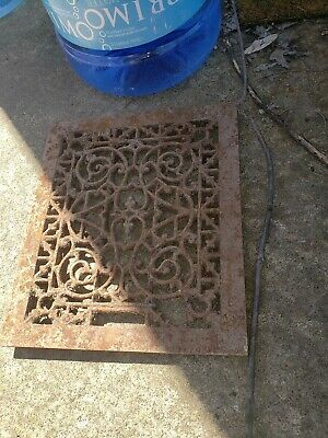 Antique Victorian Grate  13×11 Heating Vent Register