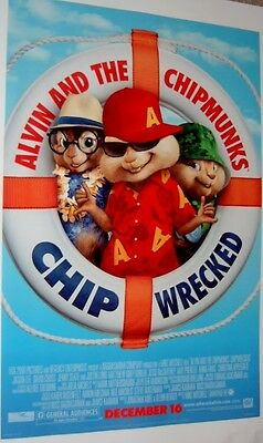 """Alvin and the Chipmunks poster - Chip Wrecked movie poster - 13.5"""" x 20"""""""