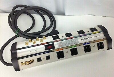 Monster Power Surge Protector Strip Home Theater Center 8 Outlets HTS 1000 MKII
