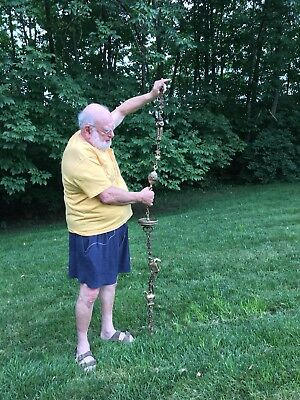 Indian Antique Old Original Brass Hand Crafted Swing Chain