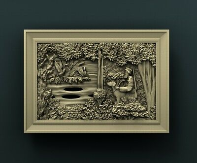 3d STL Model Relief for CNC Router Aspire _ (0210) Hunting