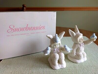 """Set of 2 #56.26274 Department 56 Snowbunnies /""""Easy Does It/"""""""