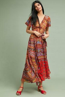 64702ba7899b NEW ANTHROPOLOGIE EMBROIDERED Garden Stroll Midi Dress by Floreat Sz ...