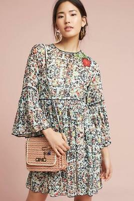 a569c5bb0301 (NWOT ANTHROPOLOGIE BHANUNI by JYOTI LIBRA EMBROIDERED TUNIC DRESS sz 12-as  is)
