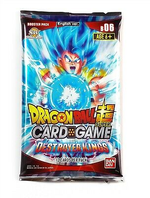 Bandai Dragon Ball Super Card Game, Destroyer King (1 Booster Pack), New