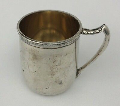 Antique Quadruple Silverplate Cup by SILVER CITY PLATE CO. MERIDEN CT. 800 Mark