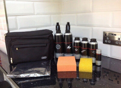 New Genuine Audi 10 Piece Car Care Valeting Cleaning Kit Accessory 4L0096353C