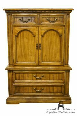 "DIXIE FURNITURE Italian Provincial 42"" Door Chest on Chest / Armoire 588-309"
