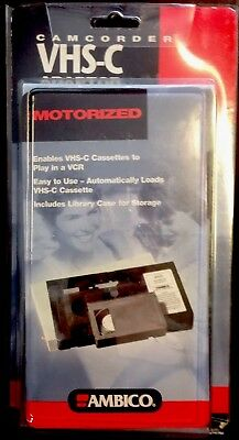 AMBICO VHS-C to VHS VHSC MOTORIZED ADAPTOR CONVERTER CAMCORDER TAPE STANDARD