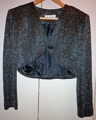Vintage  Cue  3 Piece Gold Lurex Disco Outfit Size 8 Excellent Condition
