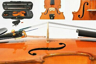 Very Old Violin 4/4 Size Pro Setup W/Dominant Strings+ Bow+Case+ Free Shipping