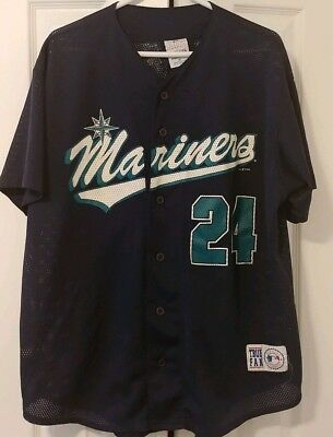 timeless design cc156 a7a86 VINTAGE 90S SEATTLE Mariners 24 Ken Griffey Jr Mesh jersey Size XLarge True  Fan