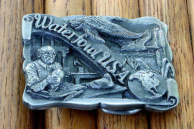 Vintage 1988 Waterfowl USA Belt Buckle USA Limited Edition Pewter Metal LQQK!!!
