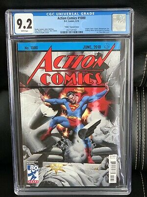 Action Comics #1000 CGC 9.2 1930's Variant Cover Edition Steve Rude 2018, NM-