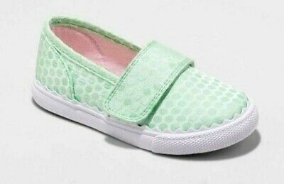 ed883637f659a NWT - Cat & Jack Toddler Girls Green Clarice Single Strap Easy Closure  Sneakers