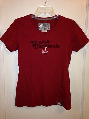 62d3c85e ST. LOUIS CARDINALS MLB Majestic 3/4 Raglan T-Shirt Women's Red Grey ...
