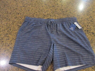 dbeedfbad8a34 George Men's XL 40 42 Shorts color block pull on Swim Trunks NWT New hybrid  navy