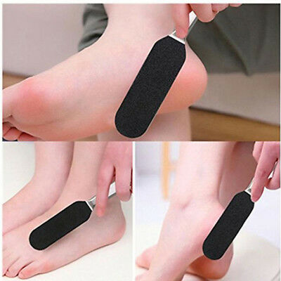 Stainless Steel Double Side Pedicure Foot File/10pcs Dry Sanding Paper Supplies