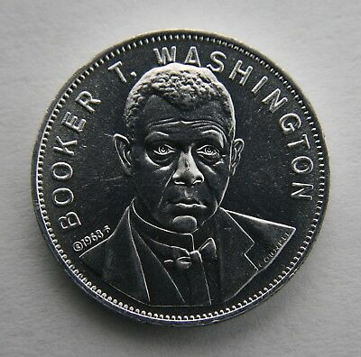 1968 Shell's Famous Facts & Faces Game Token, Booker T. Washington Coin