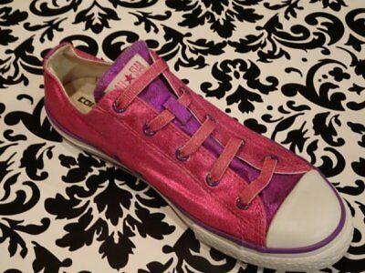 CONVERSE ALL STAR Chuck Youth Girls Low Top SHOES SIZE 6 PINK Metallic