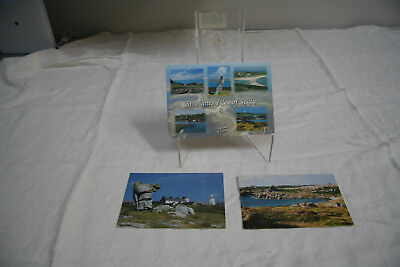 Vintage 3 2003 Postcards-Gibsons Of Skilly-St Agnes Isles
