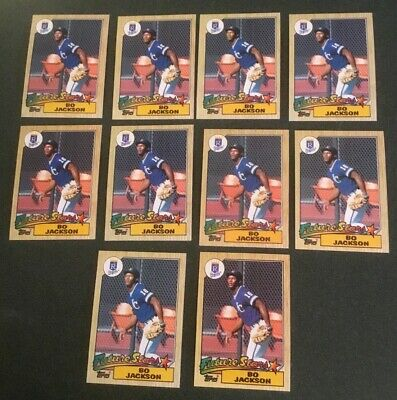 Lot Of 10 1987 Topps 170 Bo Jackson Rookie Cards