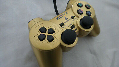 Official SONY PlayStation Gold DualShock 2 Controller Limited PS1 PS2 Gundam Z