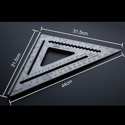 "12"" Aluminum Alloy Measuring Right Angle Triangle Ruler Woodworking Guide Tools"