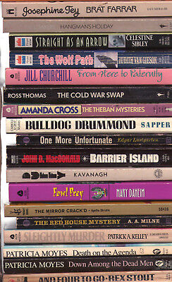 Lot A - 30 Different Mysteries Mystery Paperbacks  (Titles Pictured/Listed)