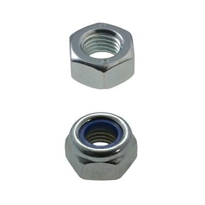 M12 (12mm) x 1.25 pitch Nuts METRIC FINE High Tensile Zinc Plated