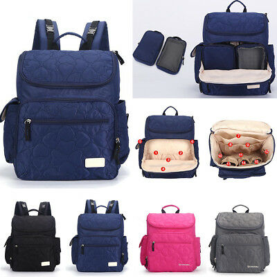 Mummy Backpack Waterproof Baby Diaper Nappy Changing Bag Handbag Travel Large