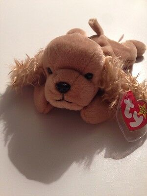 f31db6c3b9a TY BEANIE BABY Spunky the Cocker Spaniel Retired 1997 MWMT -  1.99 ...