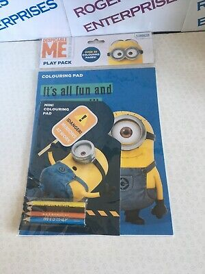 Despicable Me Play Pack Colouring Pads Pencils Children's Activity Set NEW